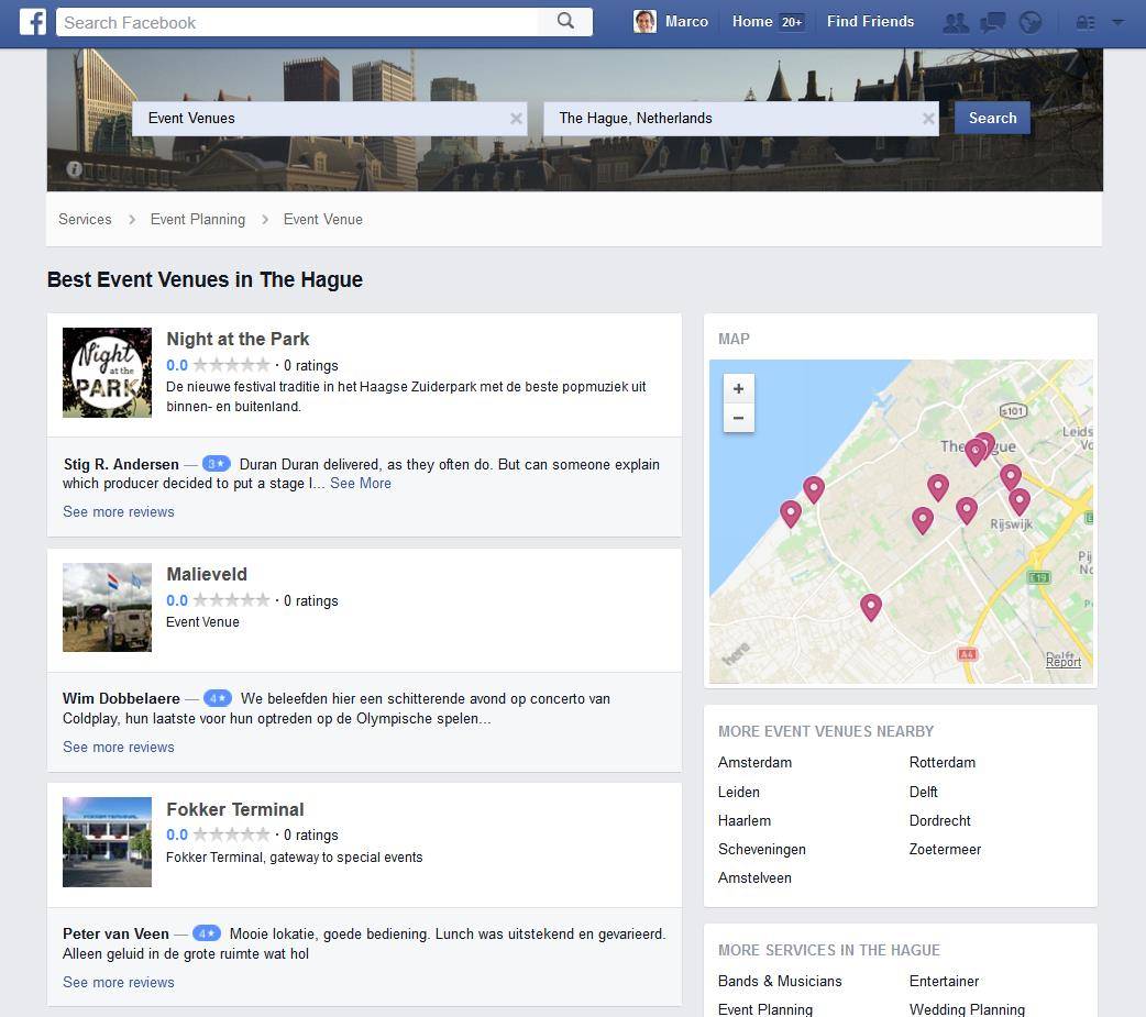 "Facebook zet vol in op reviews in nieuwe ""local search"""