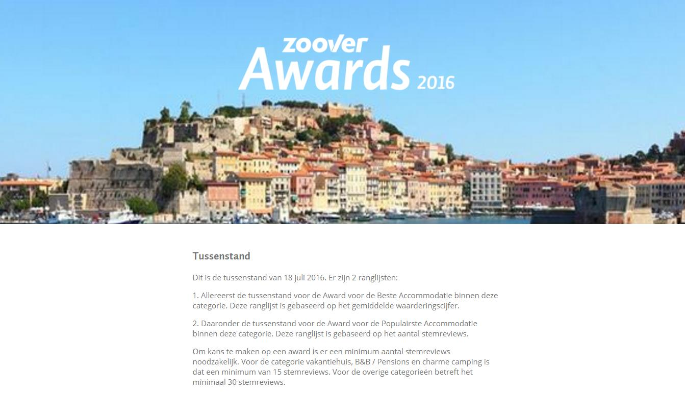 Is de Zoover award consumentenbedrog?