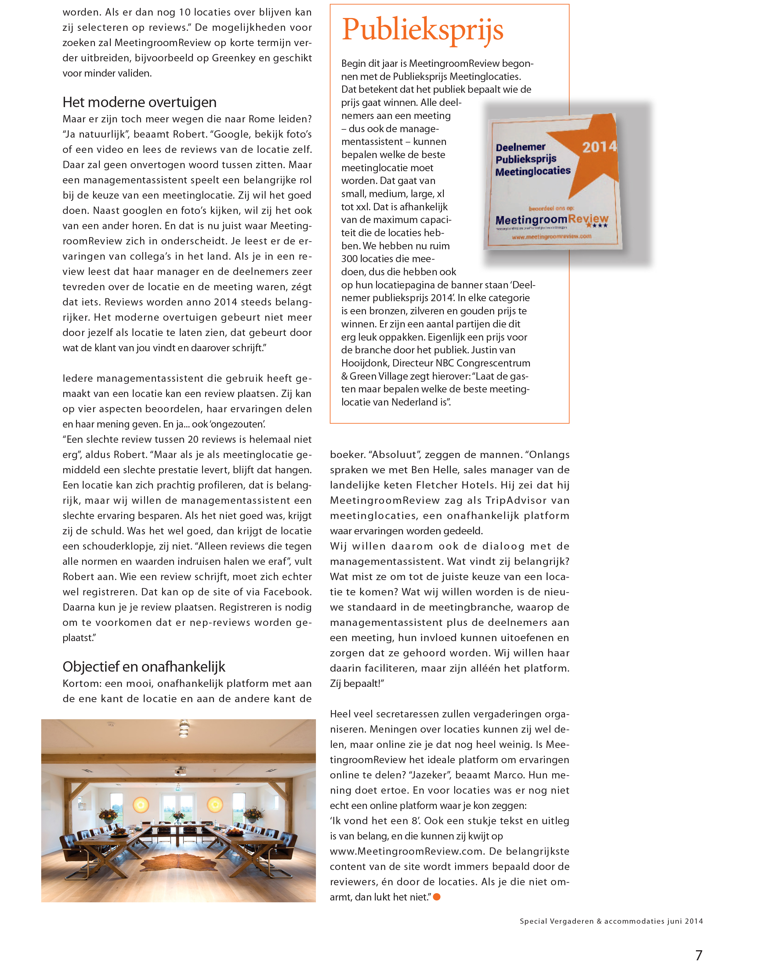 Interview MeetingReview in Management Support pagina 2